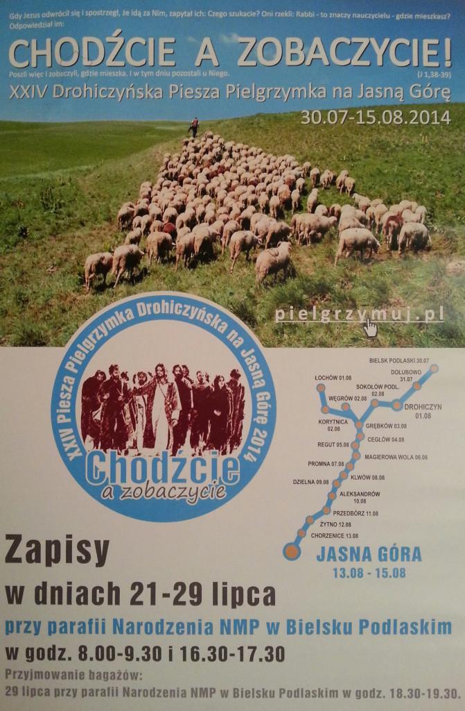 XXIV Drohiczyńska Piesza Pielgrzymka na Jasną Górę 30.07 - 15.08.2014